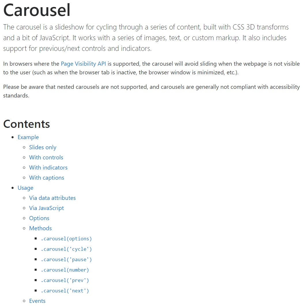 Bootstrap carousel  formal  records