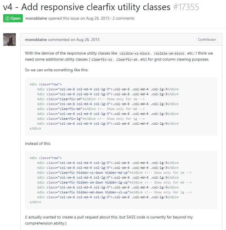 Bootstrap v4 - Add responsive clearfix utility classes
