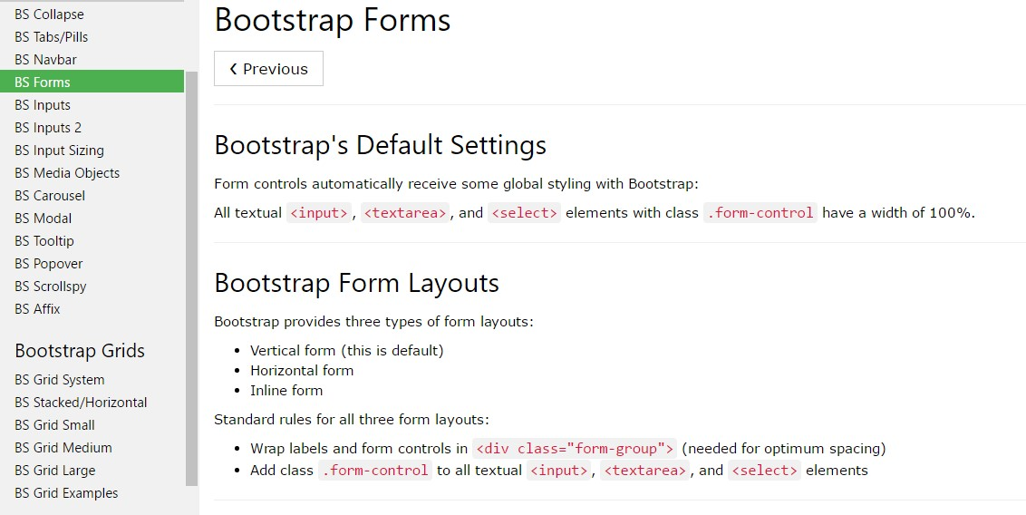 Bootstrap Form