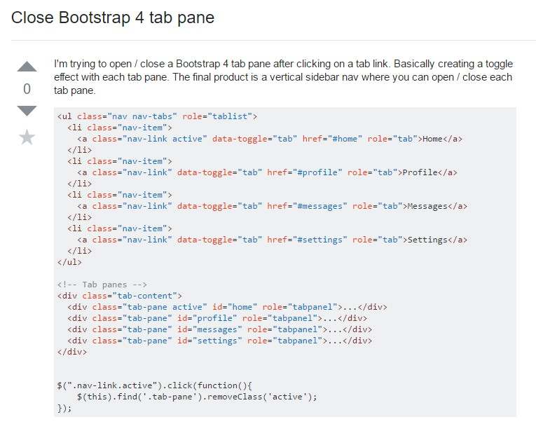 Exactly how to close Bootstrap 4 tab pane