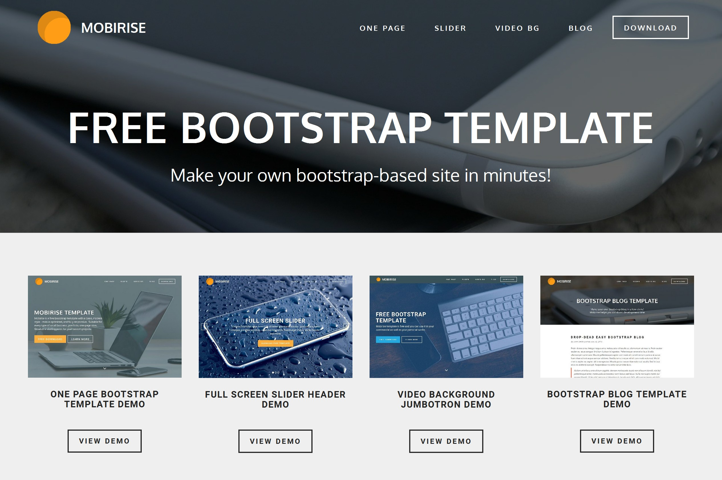 Free Bootstrap Template For Mobile Friendly Websites