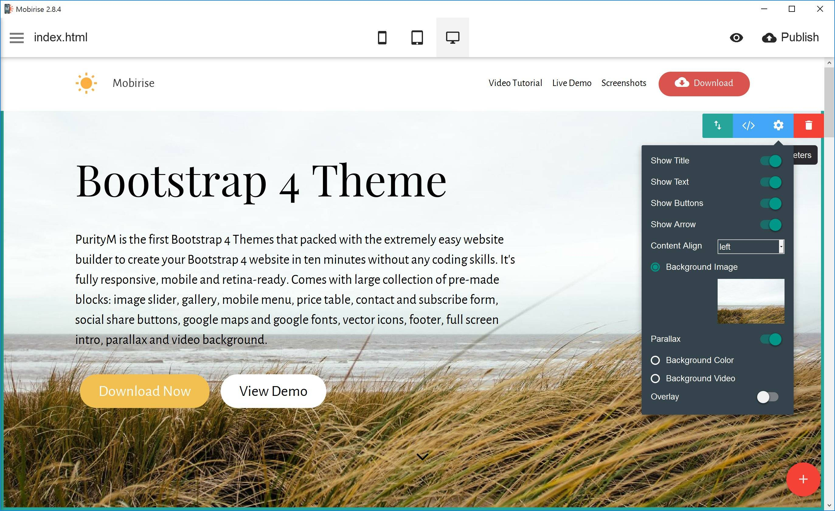 Mobirise Website Builder has announced the first website theme based on latest Bootstrap 4 alpha 2. Mobirise Website Builder helps the non-coders to create a mobile-optimized, trendy website. The latest release comes with an experimental Bootstrap 4 theme with a light, responsive layout that can be applied to any type of website.
