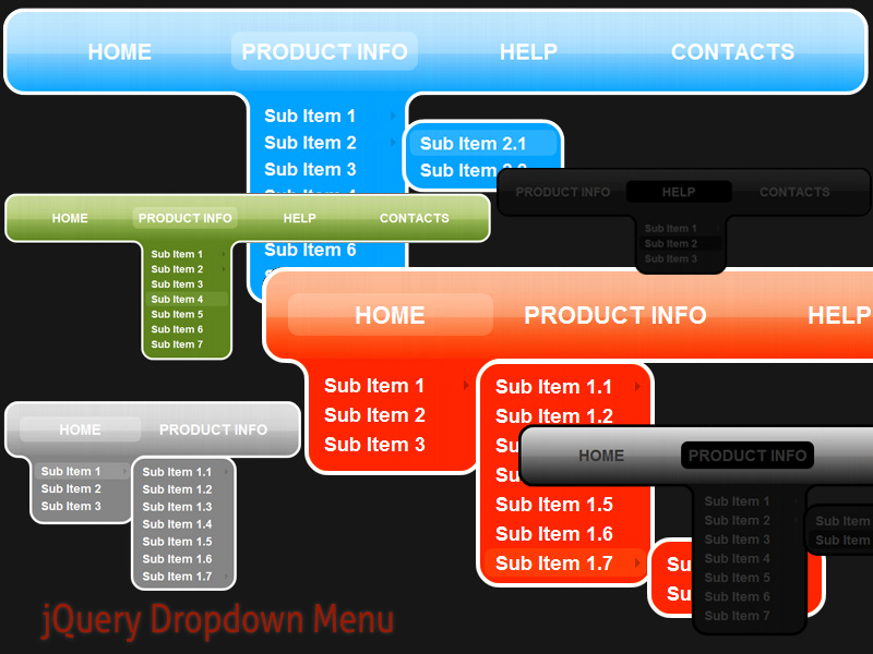 Click to view jQuery Dropdown Menu Style 3 1.5 screenshot