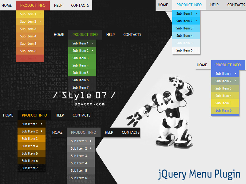 Click to view jQuery Menu Plugin Style 07 1.5 screenshot