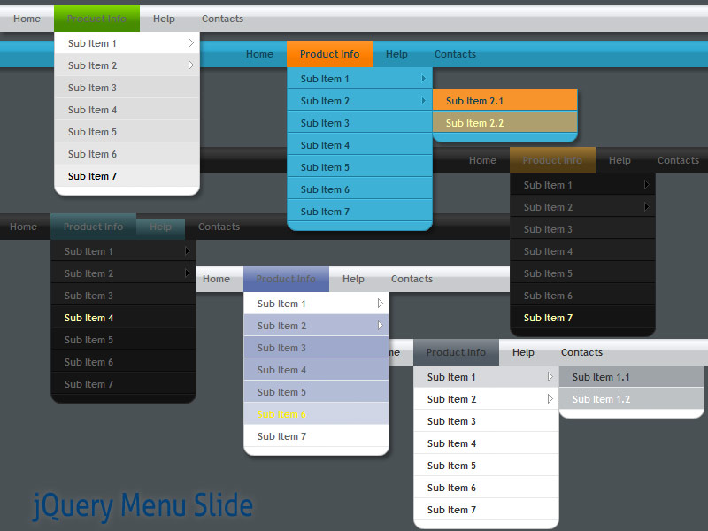 Click to view jQuery Menu Slide Style 09 1.5 screenshot
