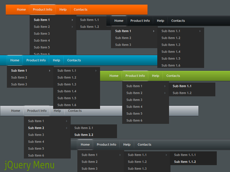 Click to view jQuery Menu Style 1.5 screenshot