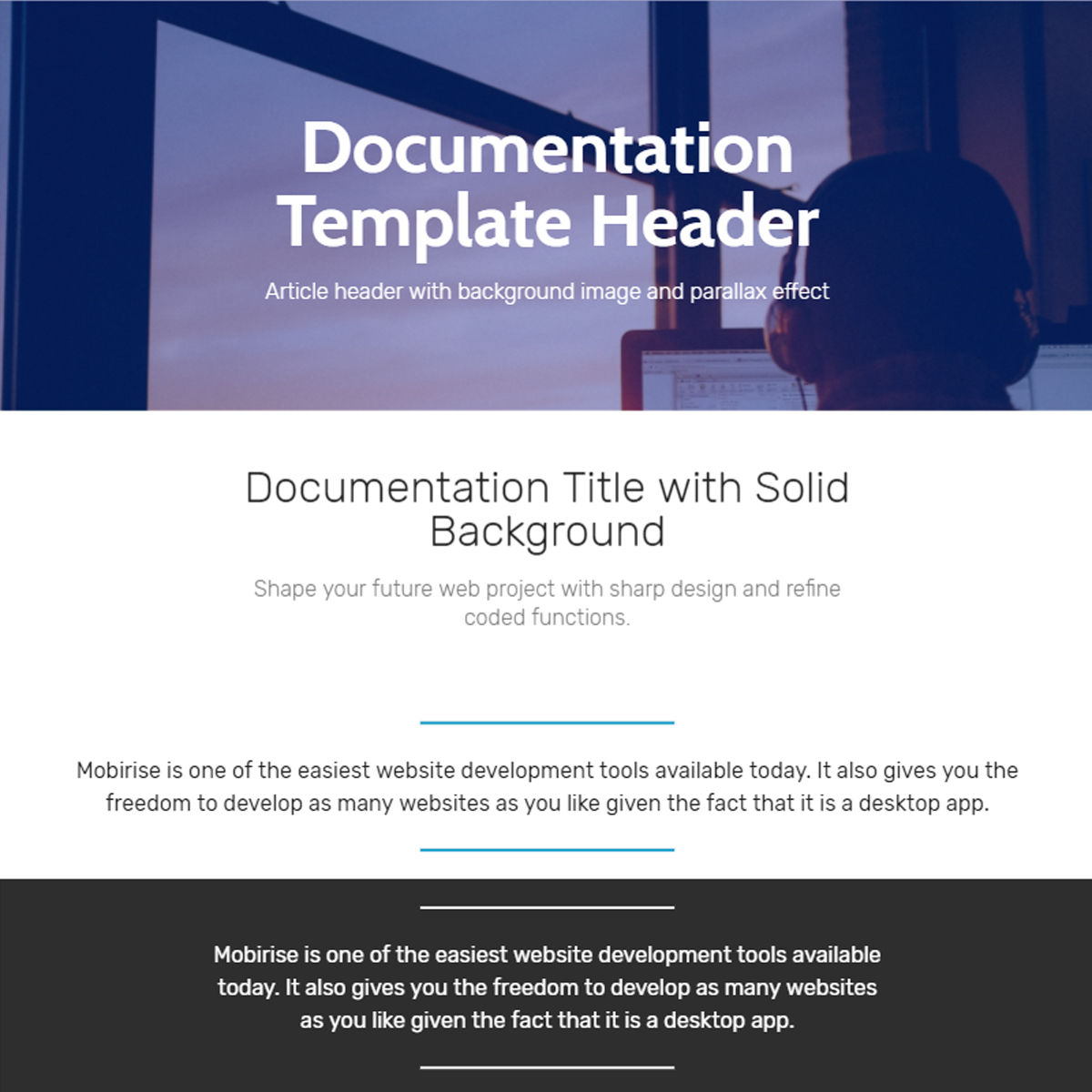 Free Bootstrap  documentation  Templates