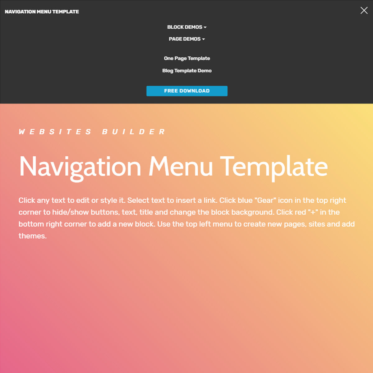 HTML5 Bootstrap  navigation menu  Themes