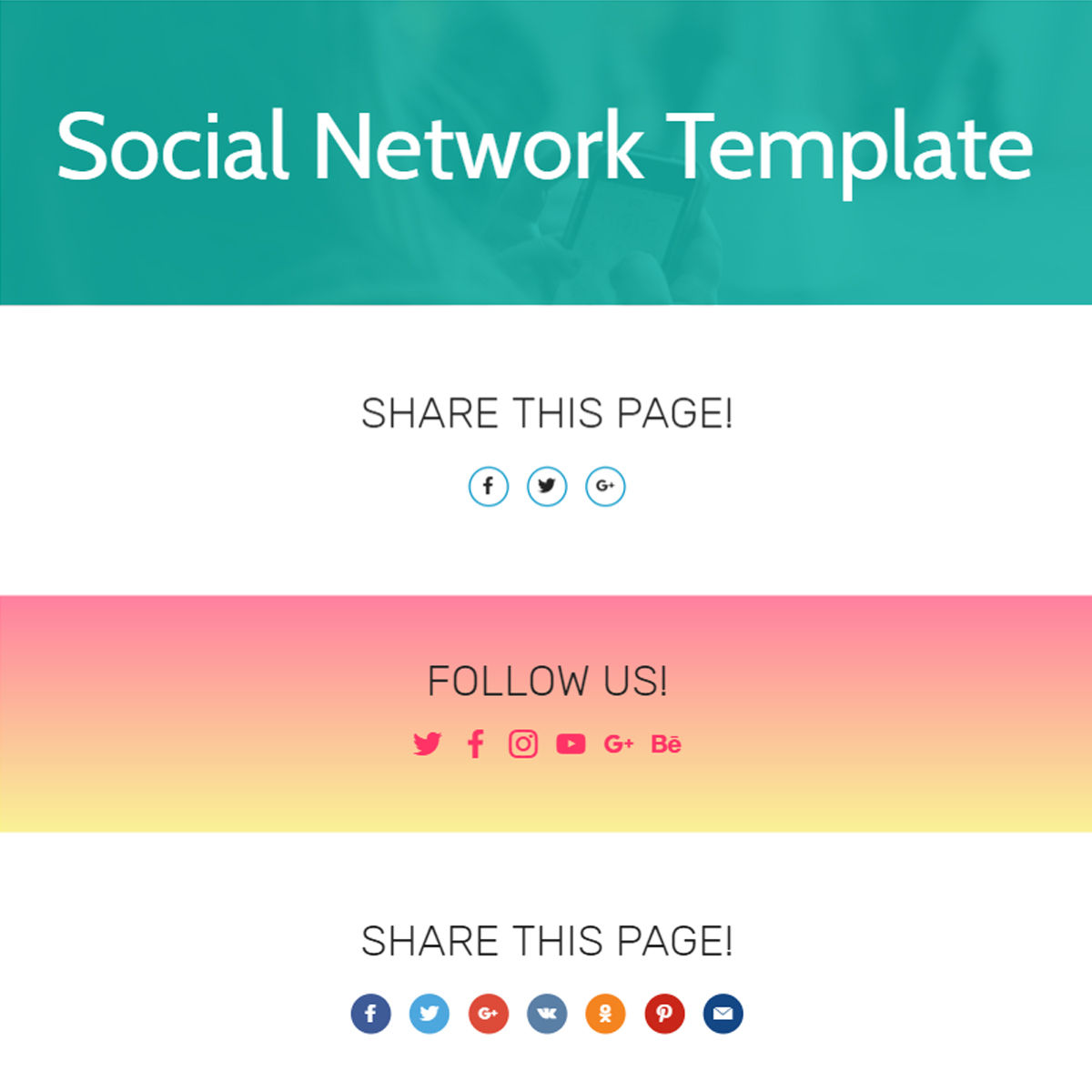 Free Download Bootstrap  Social Network  Templates