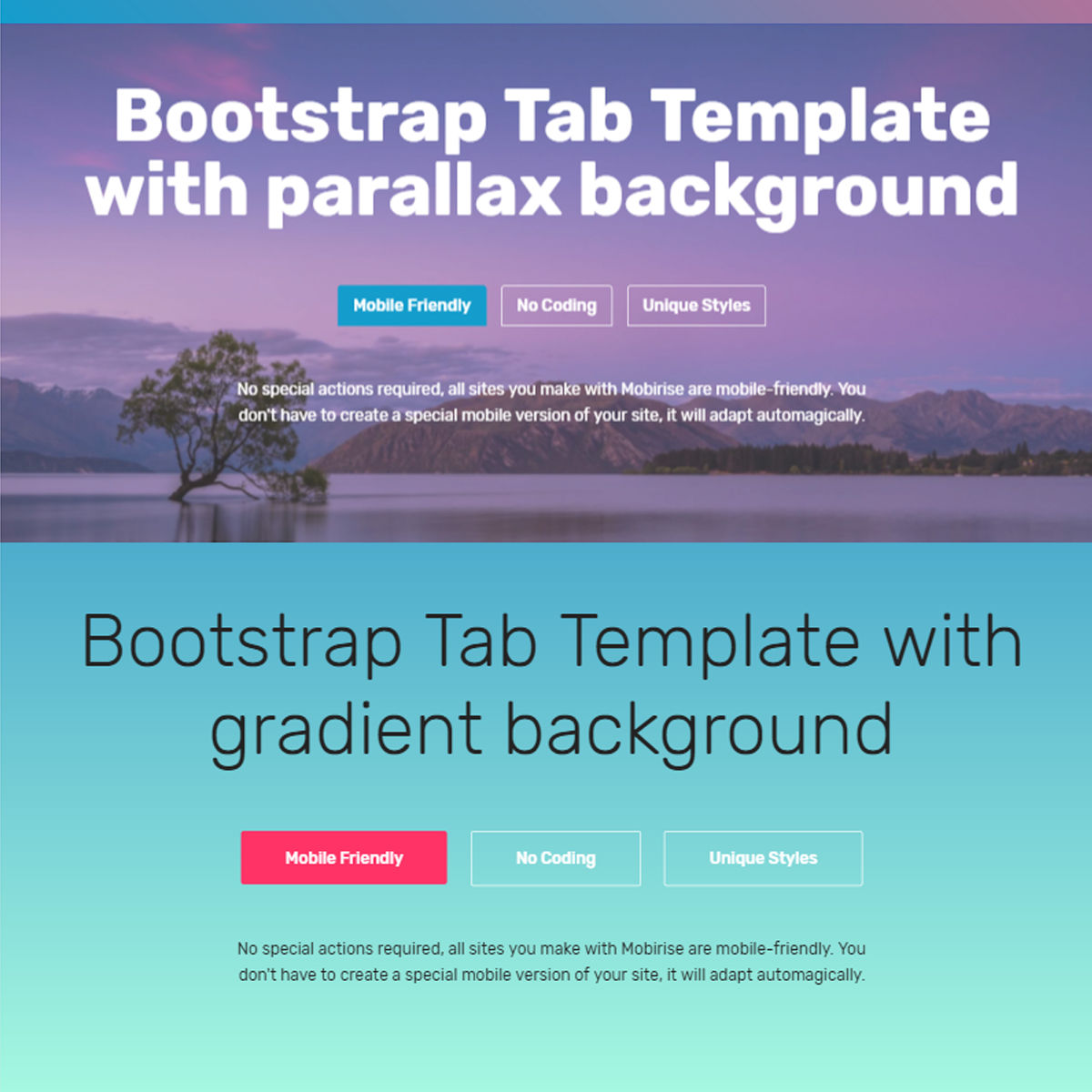 Free Download Bootstrap  tab  Templates