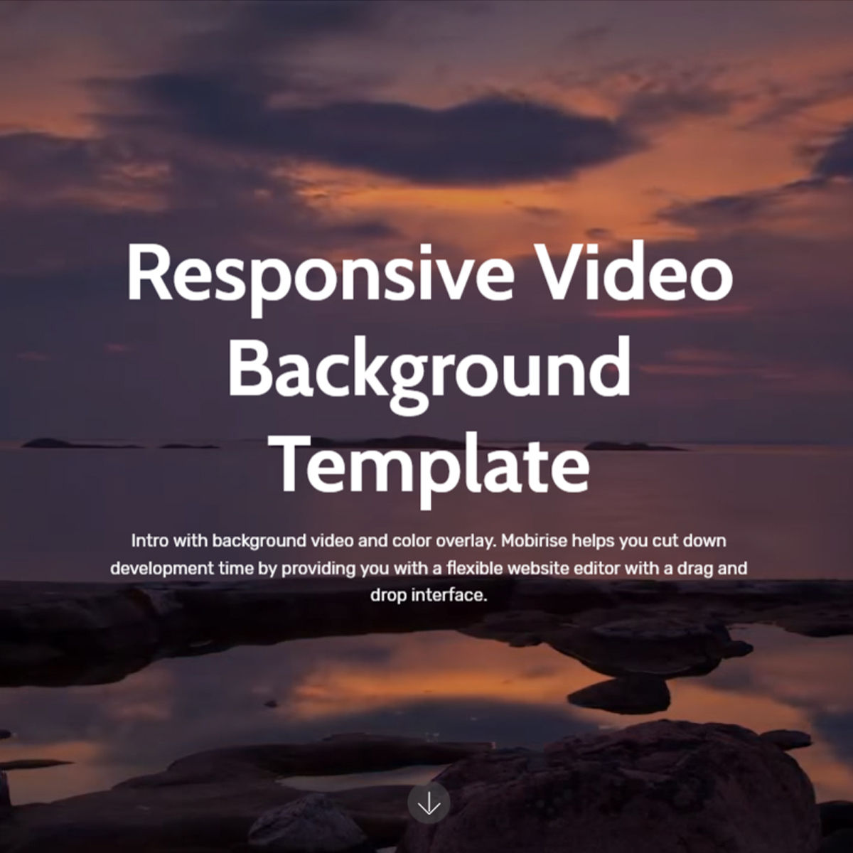 CSS3 Bootstrap  Video Background  Themes