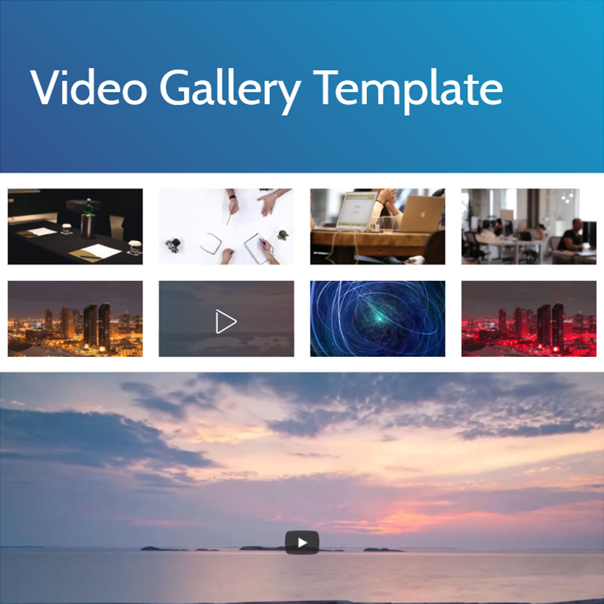 Free Download Bootstrap  video gallery  Themes