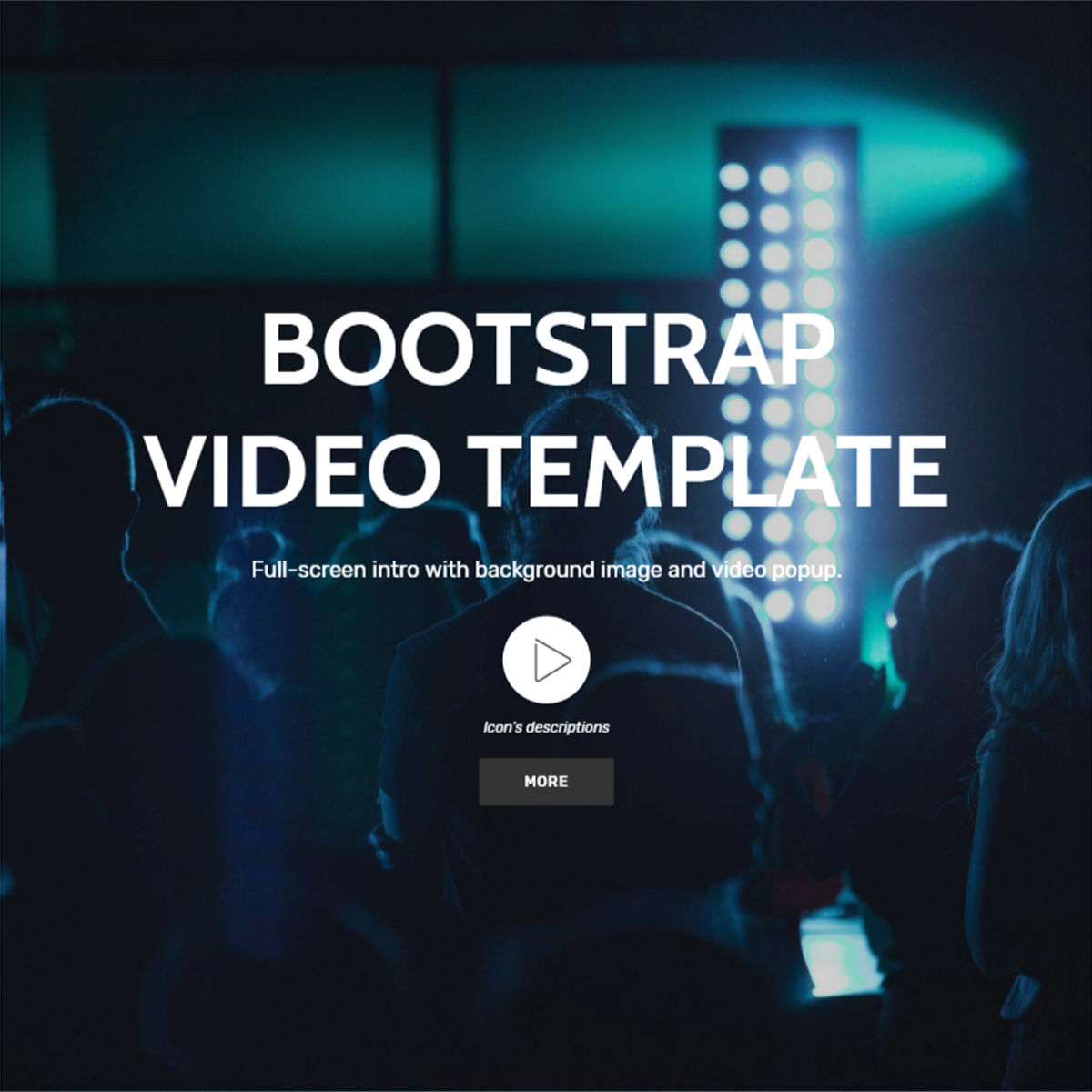 CSS3 Bootstrap  Video  Themes