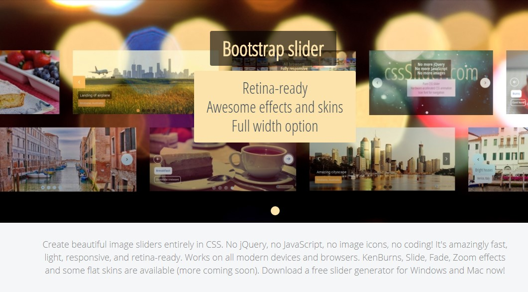 50+ Creative and Beautiful Bootstrap Slider Samples 2019