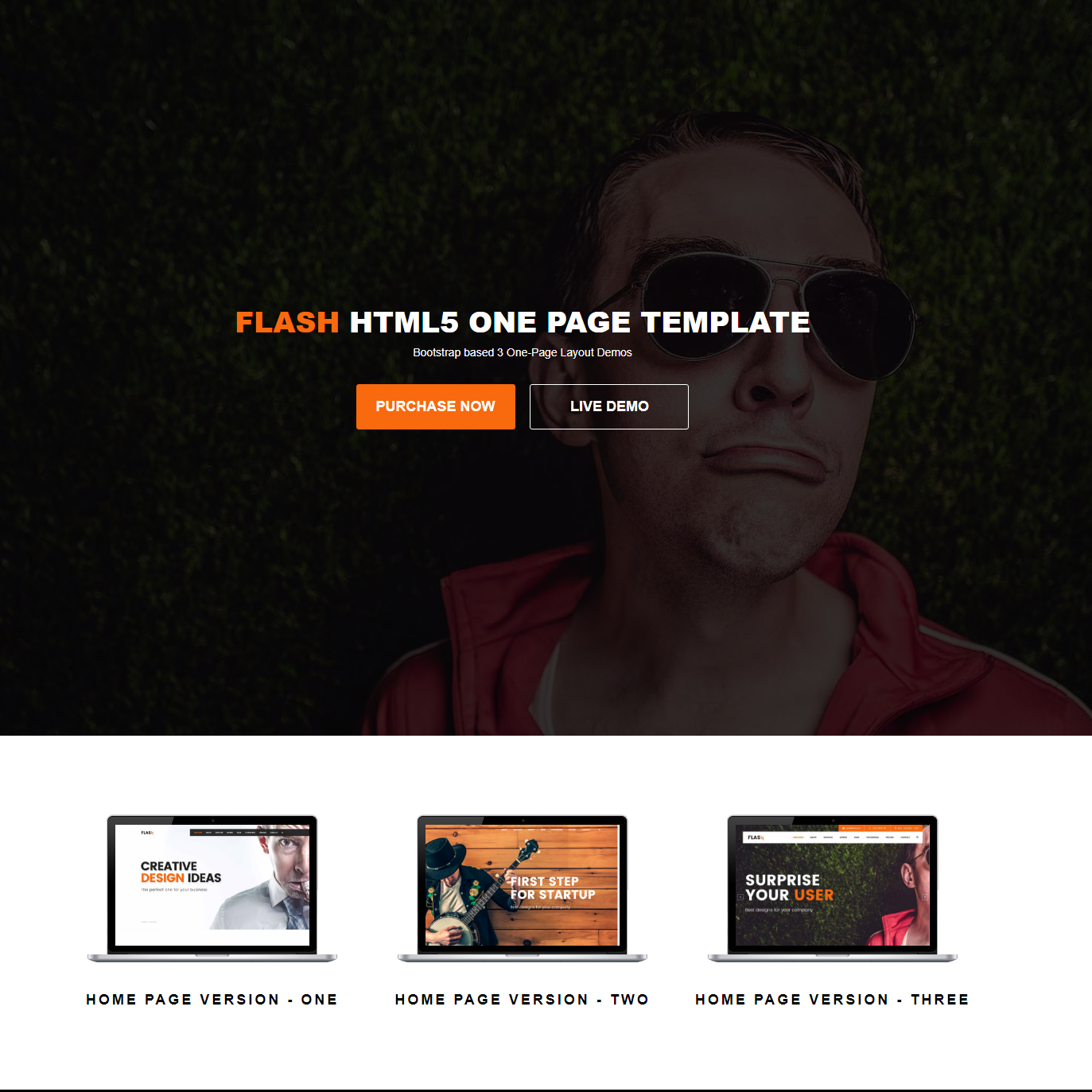 Flash HTML5 Bootstrap Template