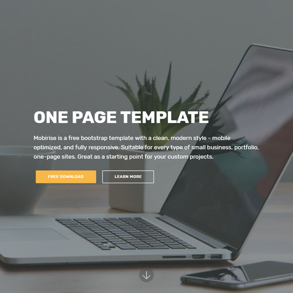 One Page Bootstrap Template