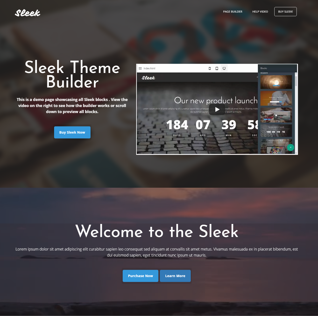 Sleek Theme Bootstrap Builder