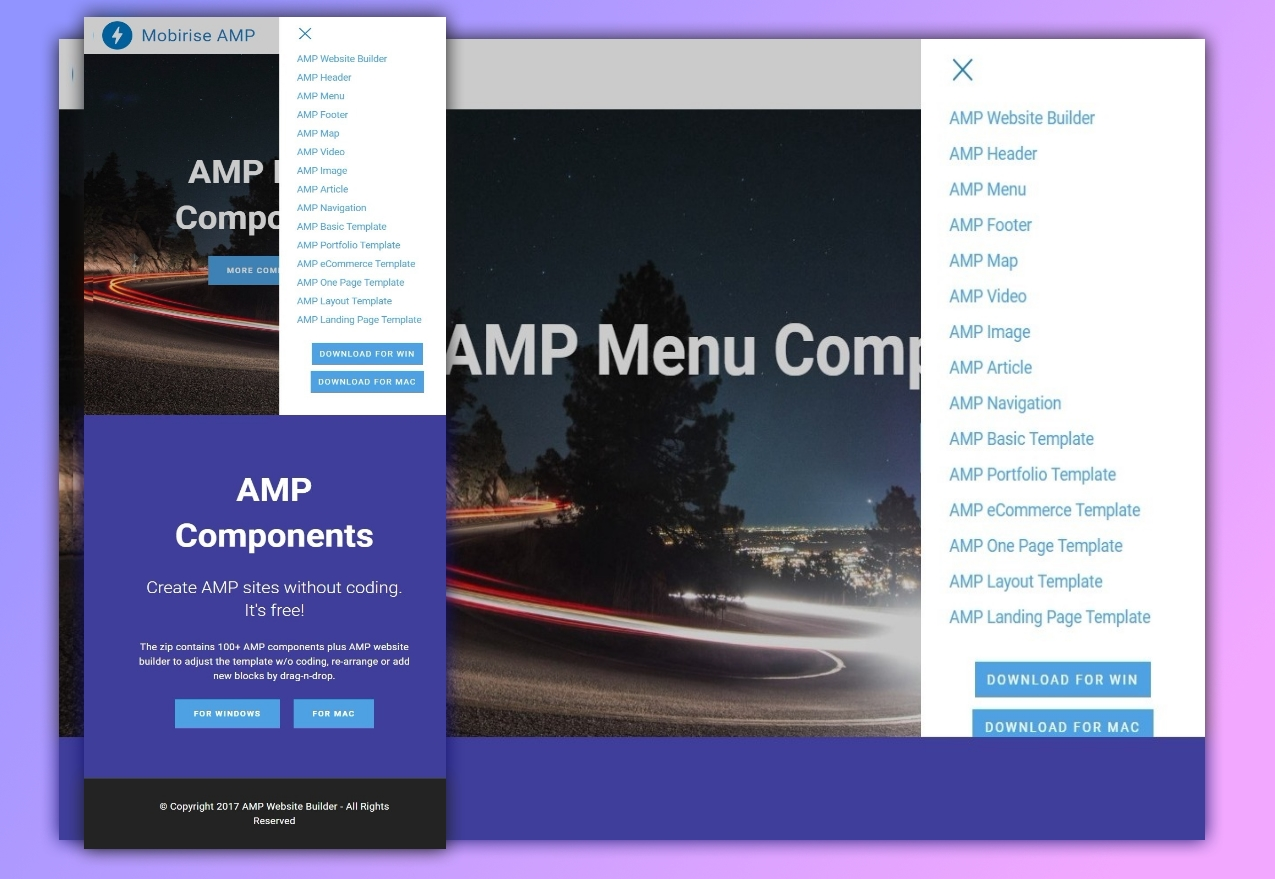 36 Top Beautiful Inspiring And Responsive Amp Components Templates