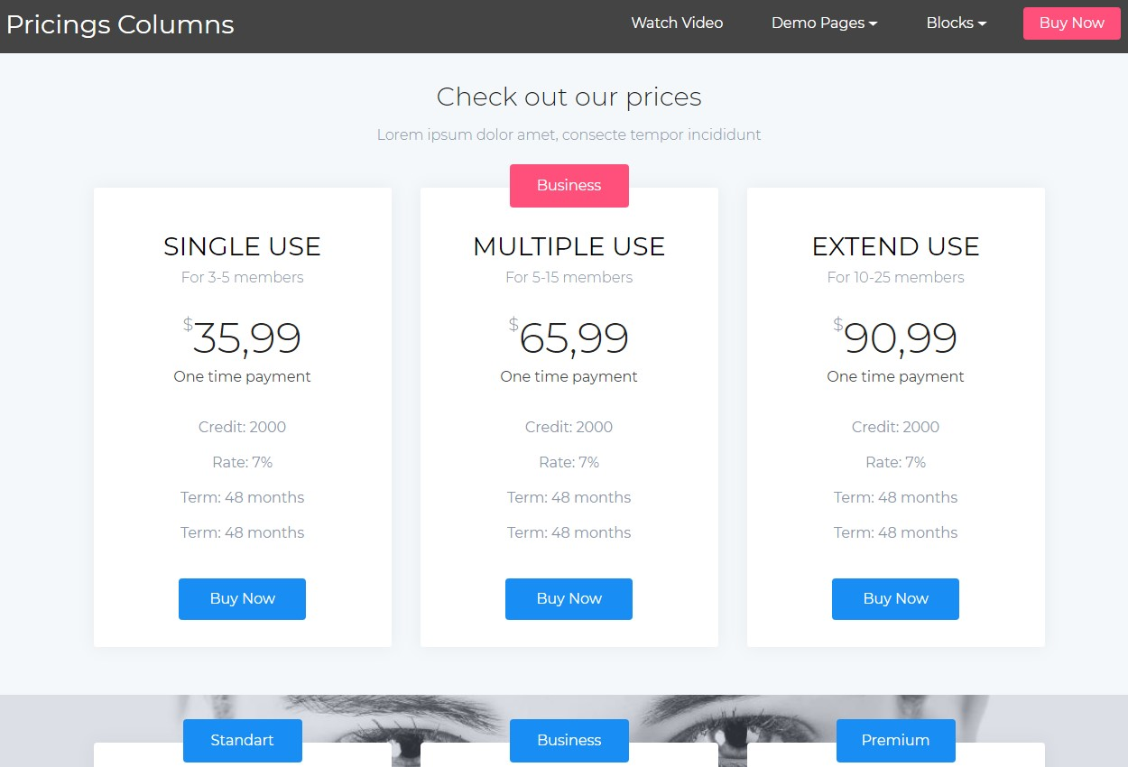 Smart Pricing HTML Template