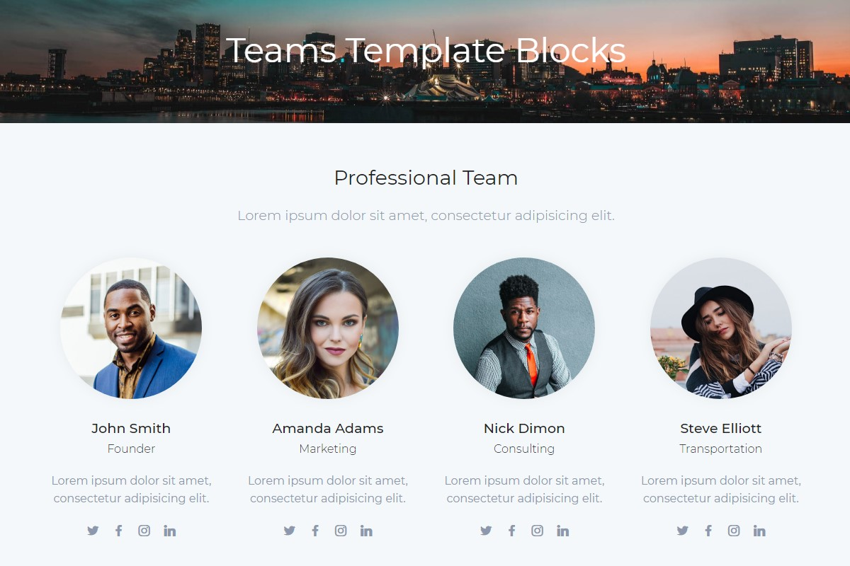 Useful Teams HTML Template