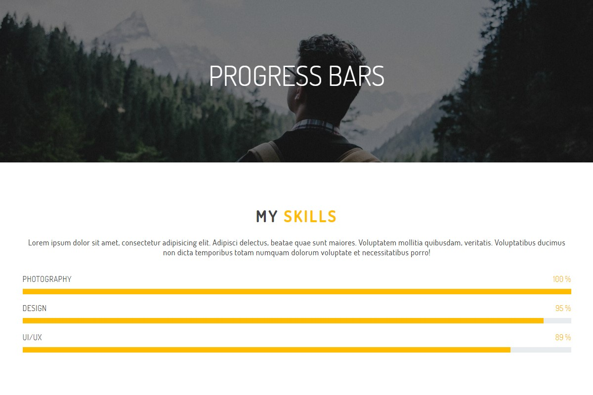 Responsive Progress Bars