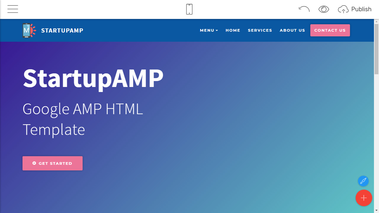 google amp html template