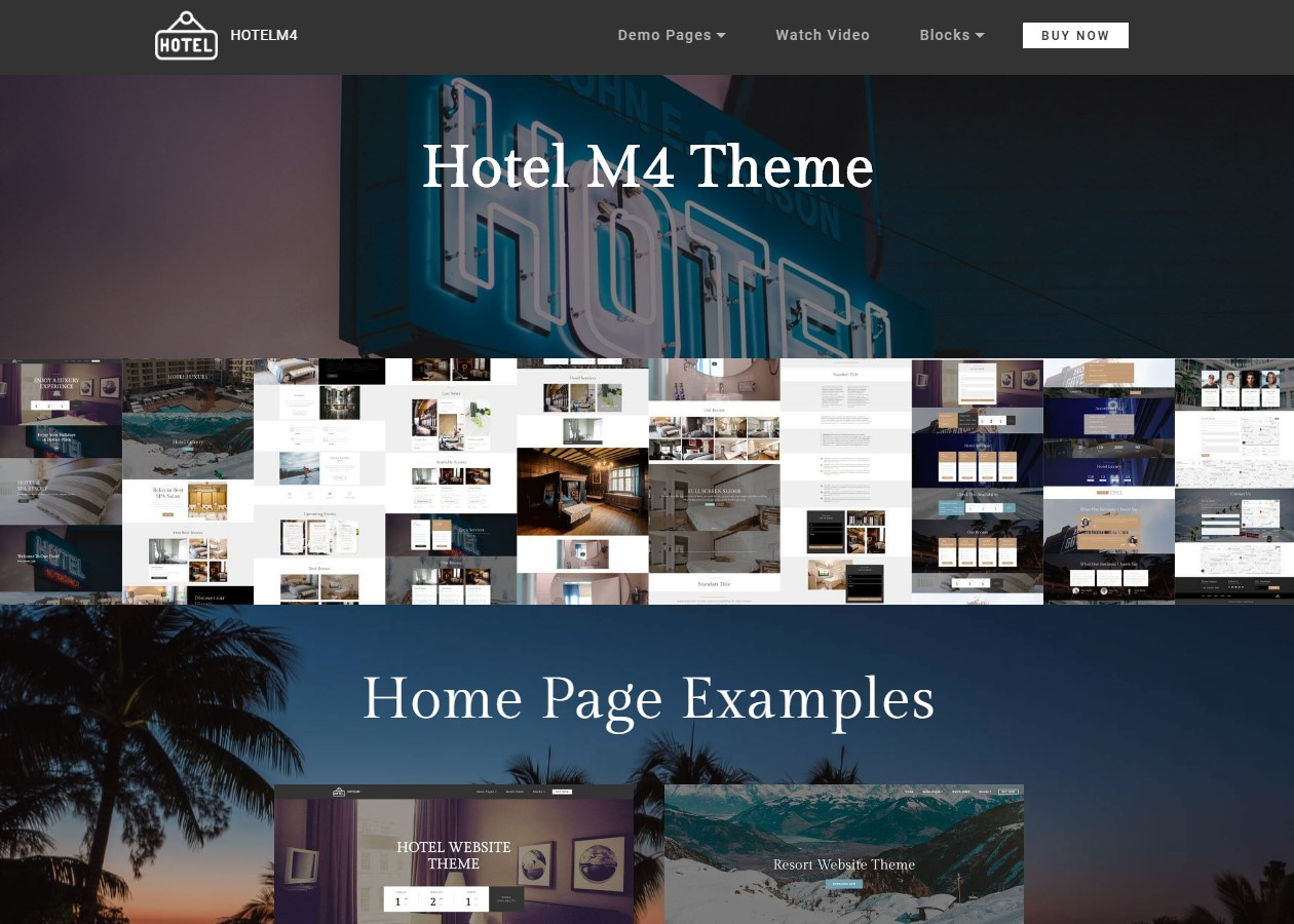 HTML Theme for Hotel Website