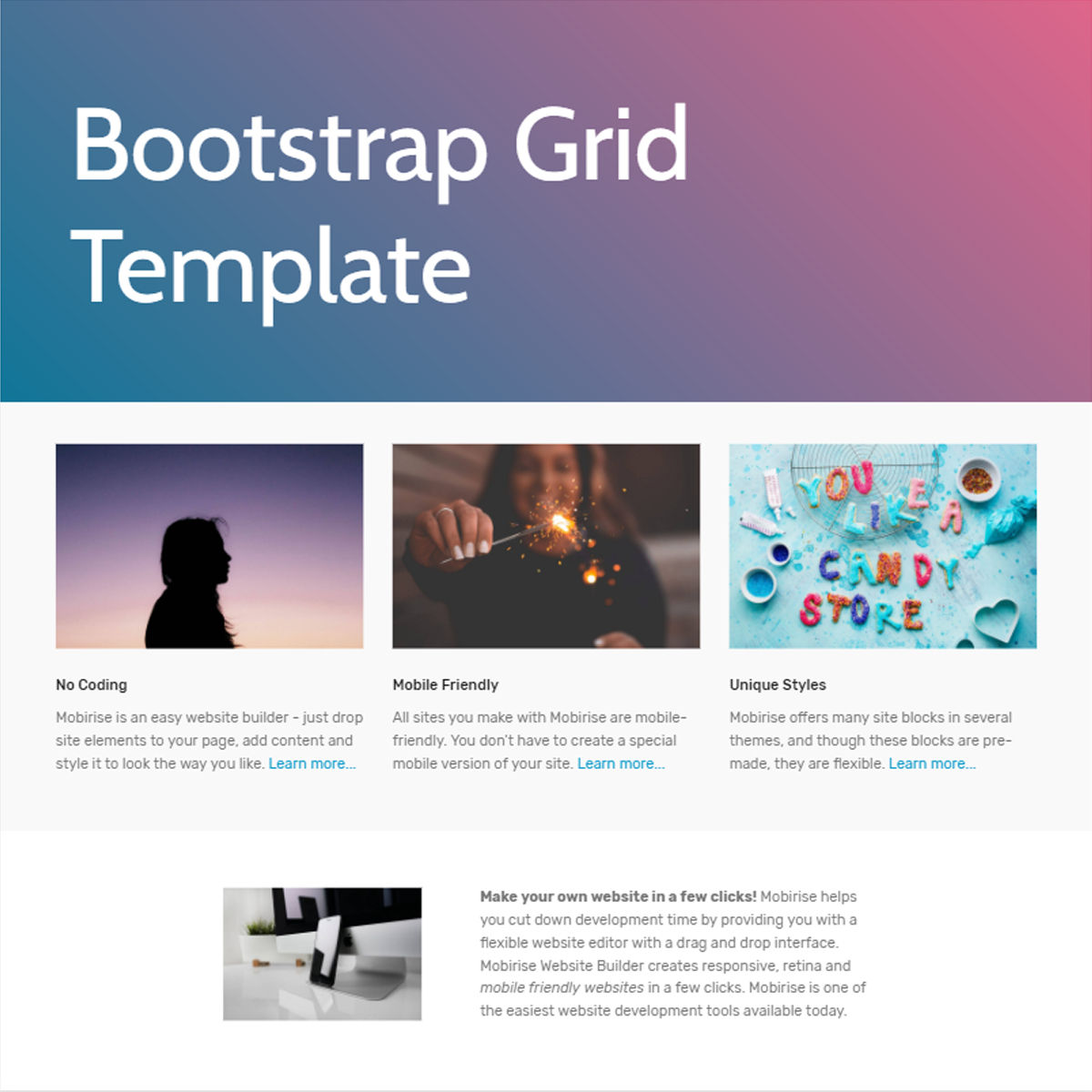 Responsive Bootstrap  Grid  Themes