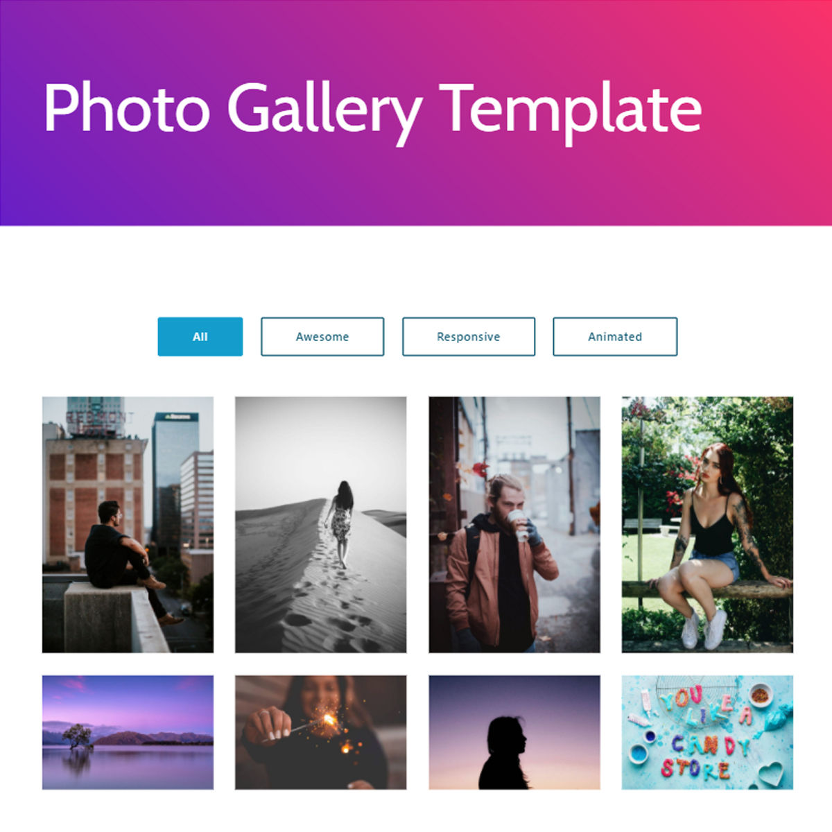 CSS3 Bootstrap  photo gallery  Templates