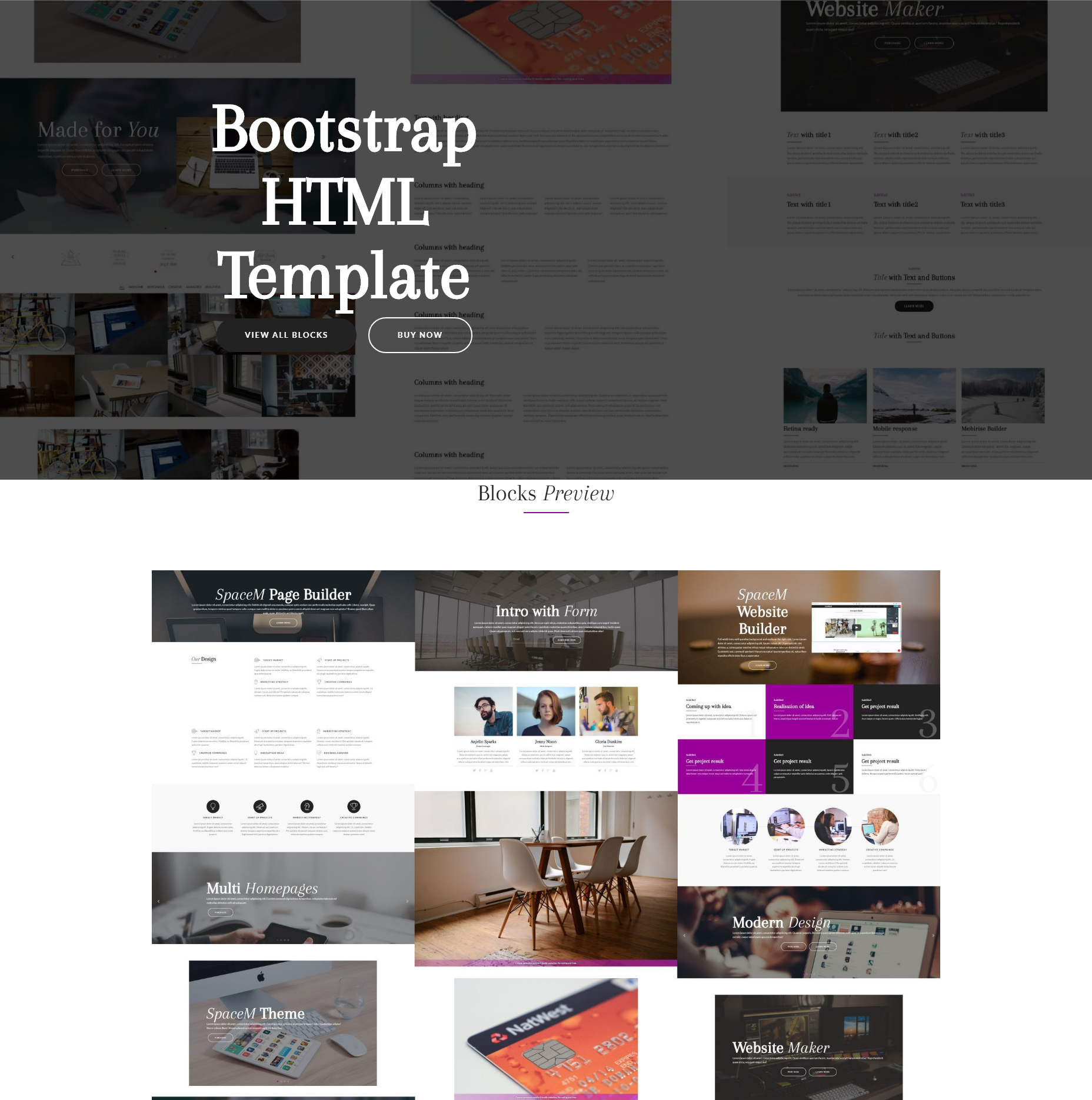 Bootstrap SpaceM HTML Template