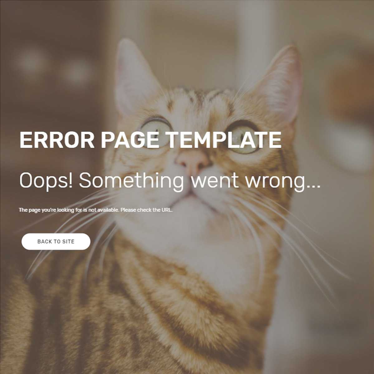 Error Page Bootstrap Template