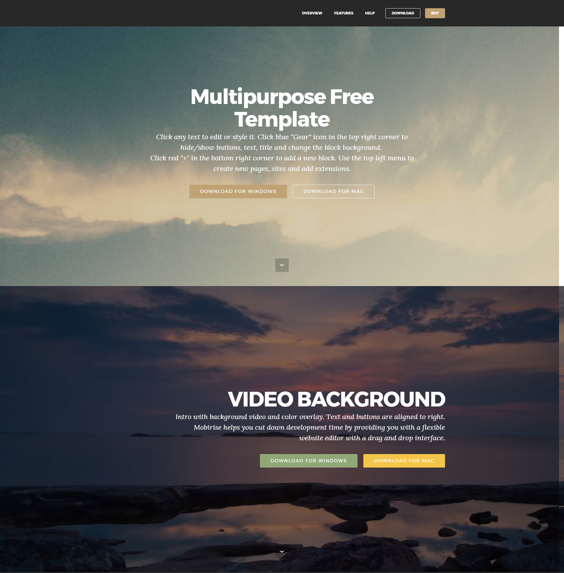 Multipurpose Free Bootstrap Template