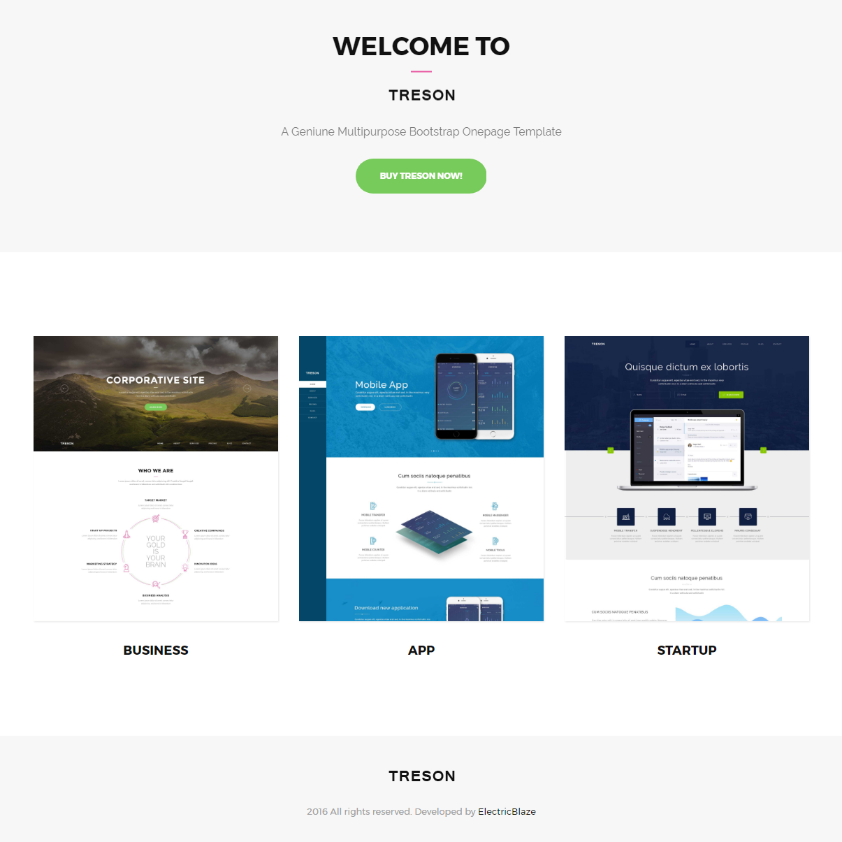 Multipurpose Onepage Bootstrap Template
