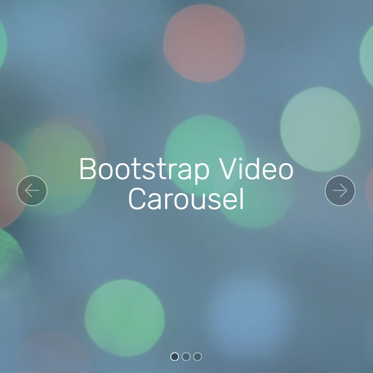 HTML Bootstrap Photo Slideshow
