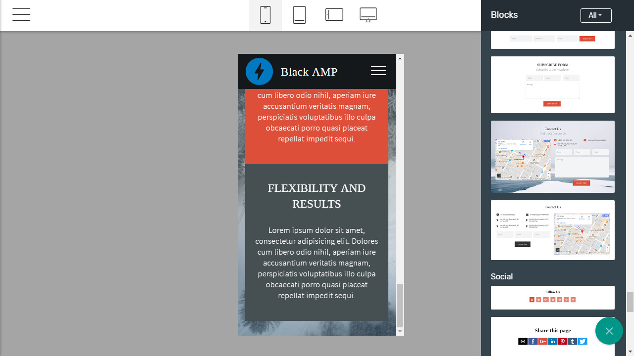 free amp template