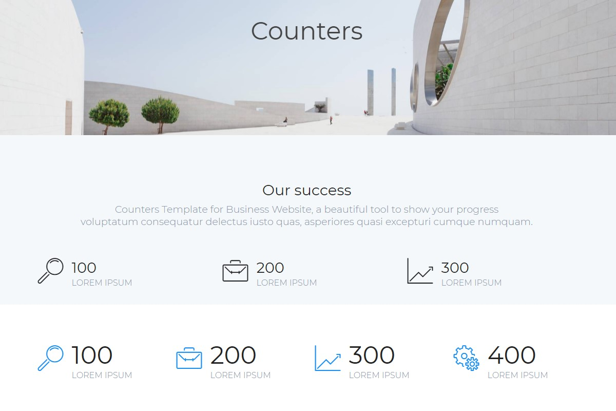 Practical Counters HTML Template