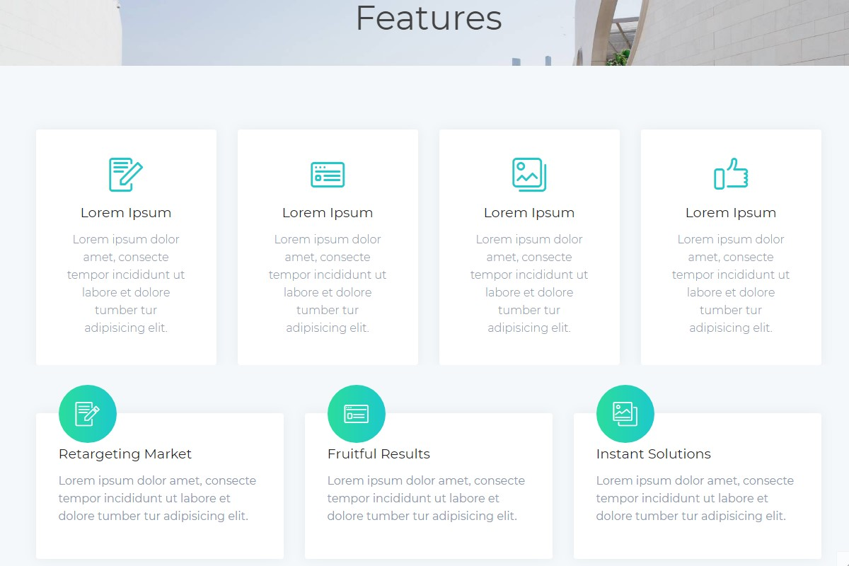 Creative Feature HTML Template