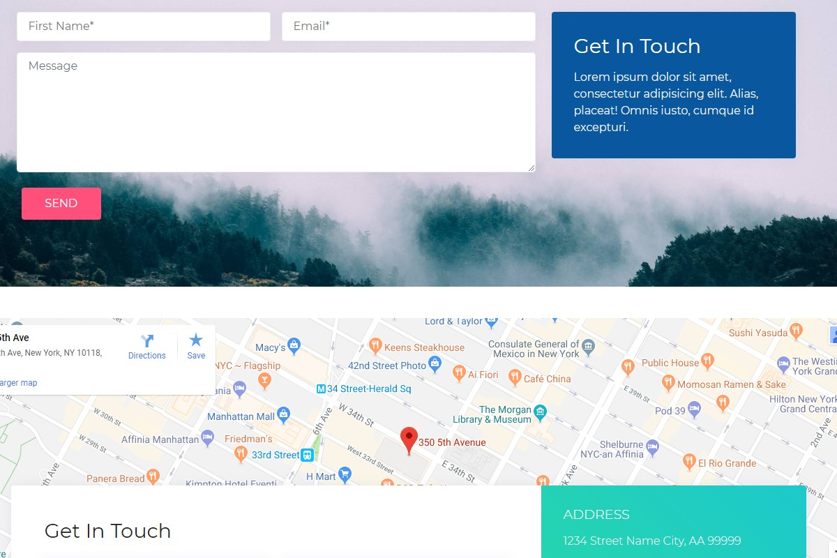 Creative Maps and Footers HTML Template