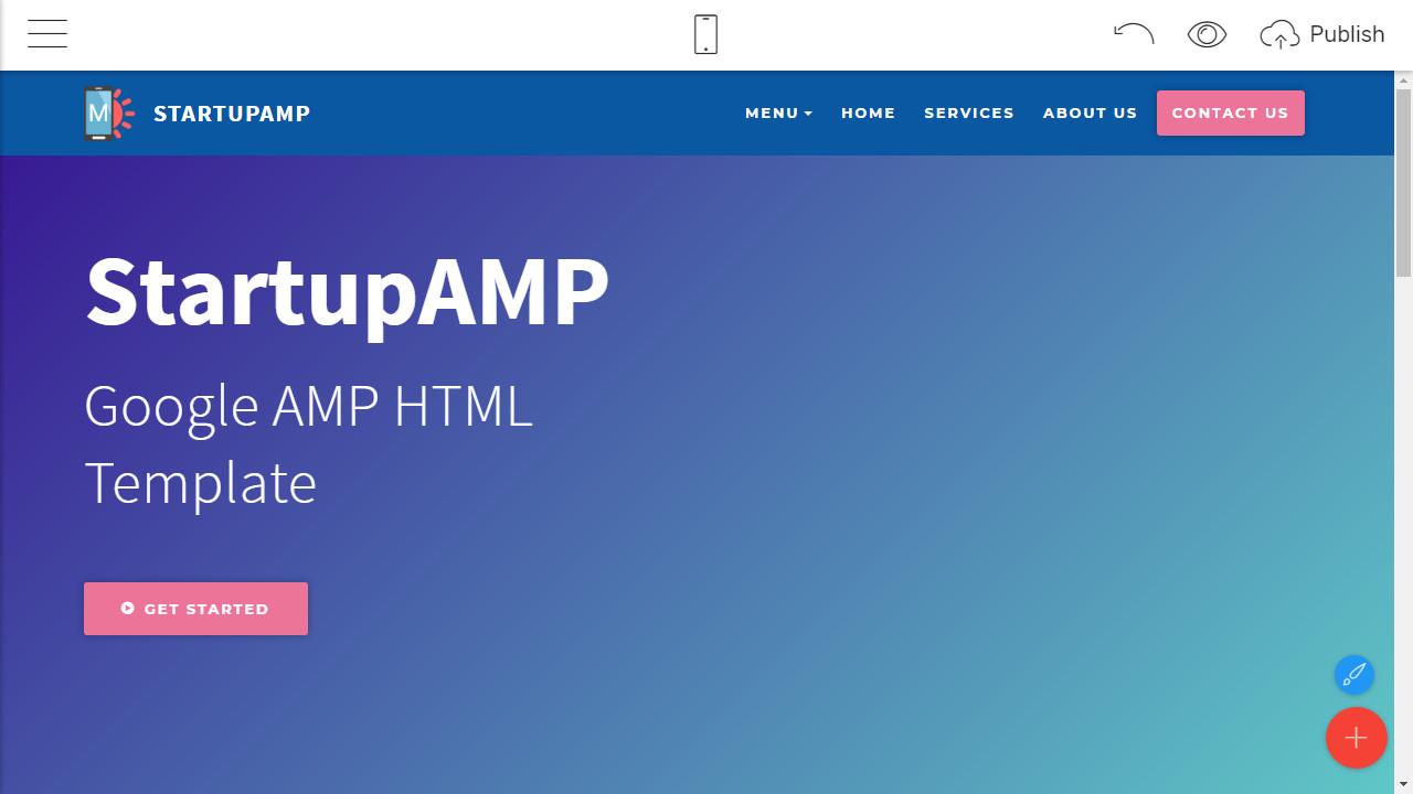 google amp html template