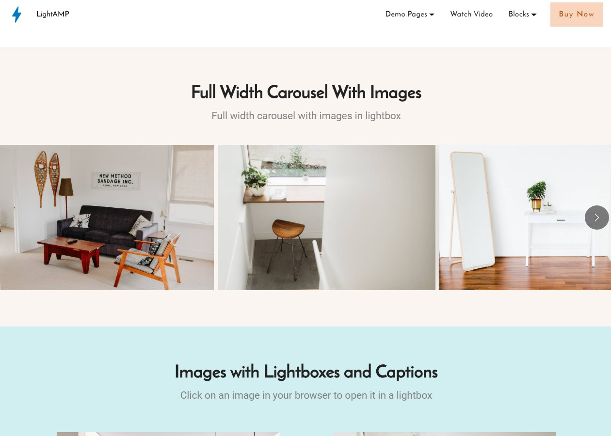 LightAMP Lightbox Template