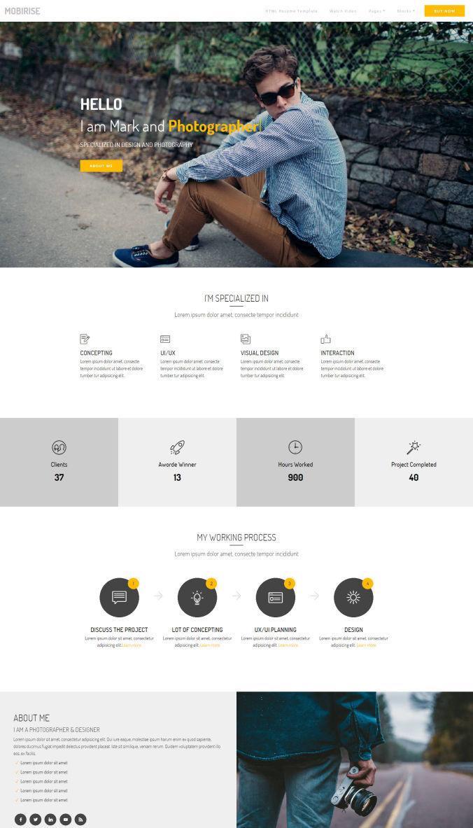Portfolio CSS Templates