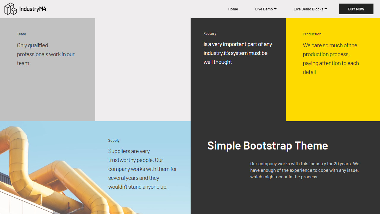 Industry Simple Bootstrap Theme