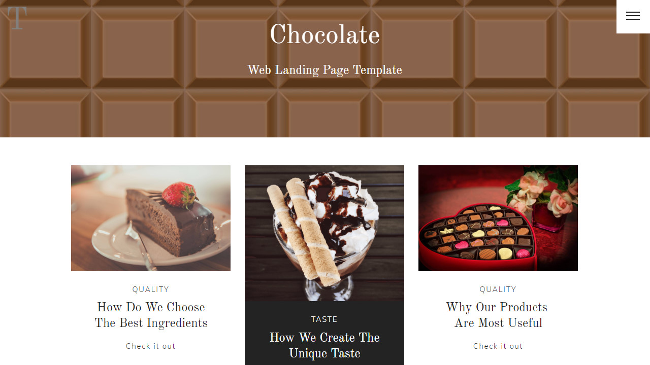 Perfume Shop Simple Web Page Template