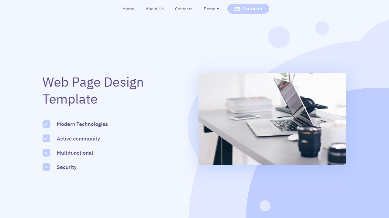 Tech Company Web Page Design Template