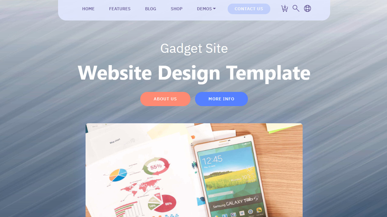 Gadget Site Website Design Template