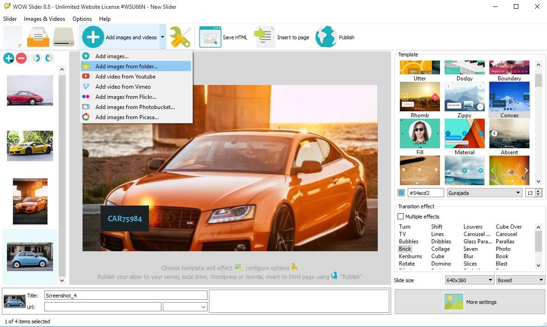 slideshow html css