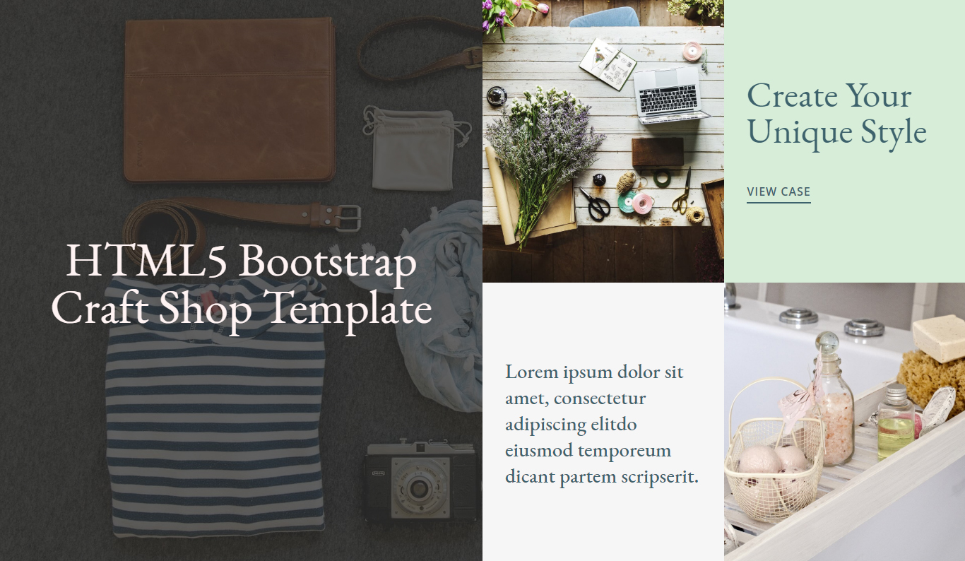 HTML5 Bootstrap Craft Shop Template